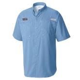 Columbia Tamiami Performance Light Blue Short Sleeve Shirt-New York Tech
