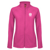 Ladies Fleece Full Zip Raspberry Jacket-New York Tech Bear Head