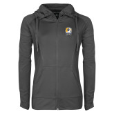 Ladies Sport Wick Stretch Full Zip Charcoal Jacket-New York Tech Bear Head
