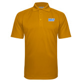 Gold Textured Saddle Shoulder Polo-NYIT