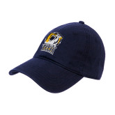 Navy Twill Unstructured Low Profile Hat-New York Tech Bear Head