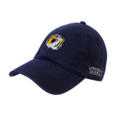Navy Twill Unstructured Low Profile Hat-Bear Head