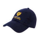Navy Twill Unstructured Low Profile Hat-Cybears