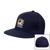 Navy OttoFlex Flat Bill Pro Style Hat-New York Tech Bear Head