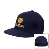 Navy OttoFlex Flat Bill Pro Style Hat-Cybears