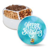 Deluxe Mix Happy Birthday Tin-New York Tech Bear Head