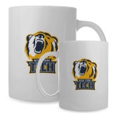 Full Color White Mug 15oz-New York Tech Bear Head
