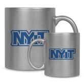 Full Color Silver Metallic Mug 11oz-NYIT