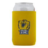 Neoprene Gold Can Holder-New York Tech Bear Head