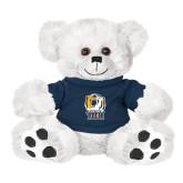 Plush Big Paw 8 1/2 inch White Bear w/Navy Shirt-New York Tech Bear Head