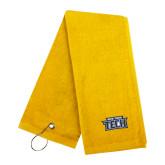 Gold Golf Towel-New York Tech