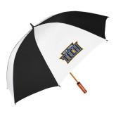 64 Inch Black/White Vented Umbrella-New York Tech
