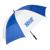 62 Inch Royal/White Vented Umbrella-NYIT