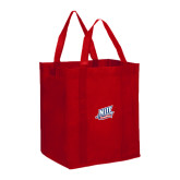 Non Woven Red Grocery Tote-NJIT Mark