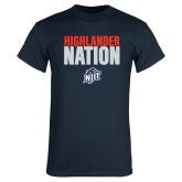 Navy T Shirt-Highlander Nation