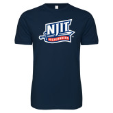 Next Level SoftStyle Navy T Shirt-NJIT Mark