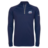 Under Armour Navy Tech 1/4 Zip Performance Shirt-NJIT Mark