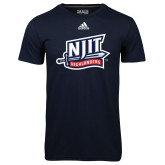 Adidas Climalite Navy Ultimate Performance Tee-NJIT Mark