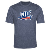 Performance Navy Heather Contender Tee-NJIT Mark