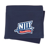 Navy Sweatshirt Blanket-NJIT Mark