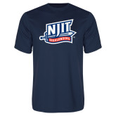 Performance Navy Tee-NJIT Mark