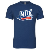 Next Level Vintage Navy Tri Blend Crew-NJIT Mark