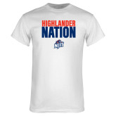 White T Shirt-Highlander Nation