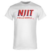 White T Shirt-Volleyball