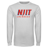 White Long Sleeve T Shirt-Lacrosse