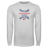 White Long Sleeve T Shirt-Baseball Seams Design