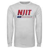 White Long Sleeve T Shirt-Volleyball Bar Design