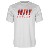 Performance White Tee-Lacrosse