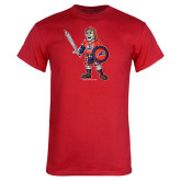 Red T Shirt-Mascot Distressed