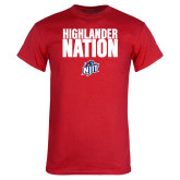 Red T Shirt-Highlander Nation