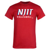 Red T Shirt-Volleyball