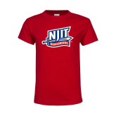 Youth Red T Shirt-NJIT Mark