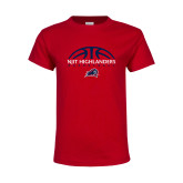Youth Red T Shirt-Basketball Half Ball Design