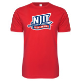 Next Level SoftStyle Red T Shirt-NJIT Mark