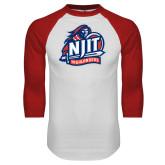 White/Red Raglan Baseball T-Shirt-Official Logo
