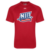 Under Armour Red Tech Tee-NJIT Mark