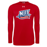 Under Armour Red Long Sleeve Tech Tee-NJIT Mark