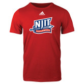 Adidas Red Logo T Shirt-NJIT Mark
