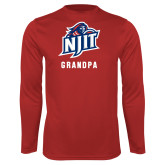 Performance Red Longsleeve Shirt-Grandpa