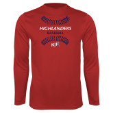 Performance Red Longsleeve Shirt-Baseball Seams Design