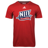 Adidas Climalite Red Ultimate Performance Tee-NJIT Mark