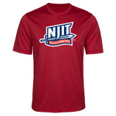 Performance Red Heather Contender Tee-NJIT Mark