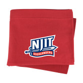 Red Sweatshirt Blanket-NJIT Mark