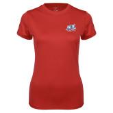 Ladies Syntrel Performance Red Tee-NJIT Mark