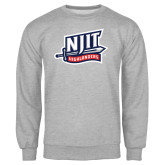 Grey Fleece Crew-NJIT Mark
