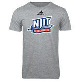 Adidas Sport Grey Logo T Shirt-NJIT Mark